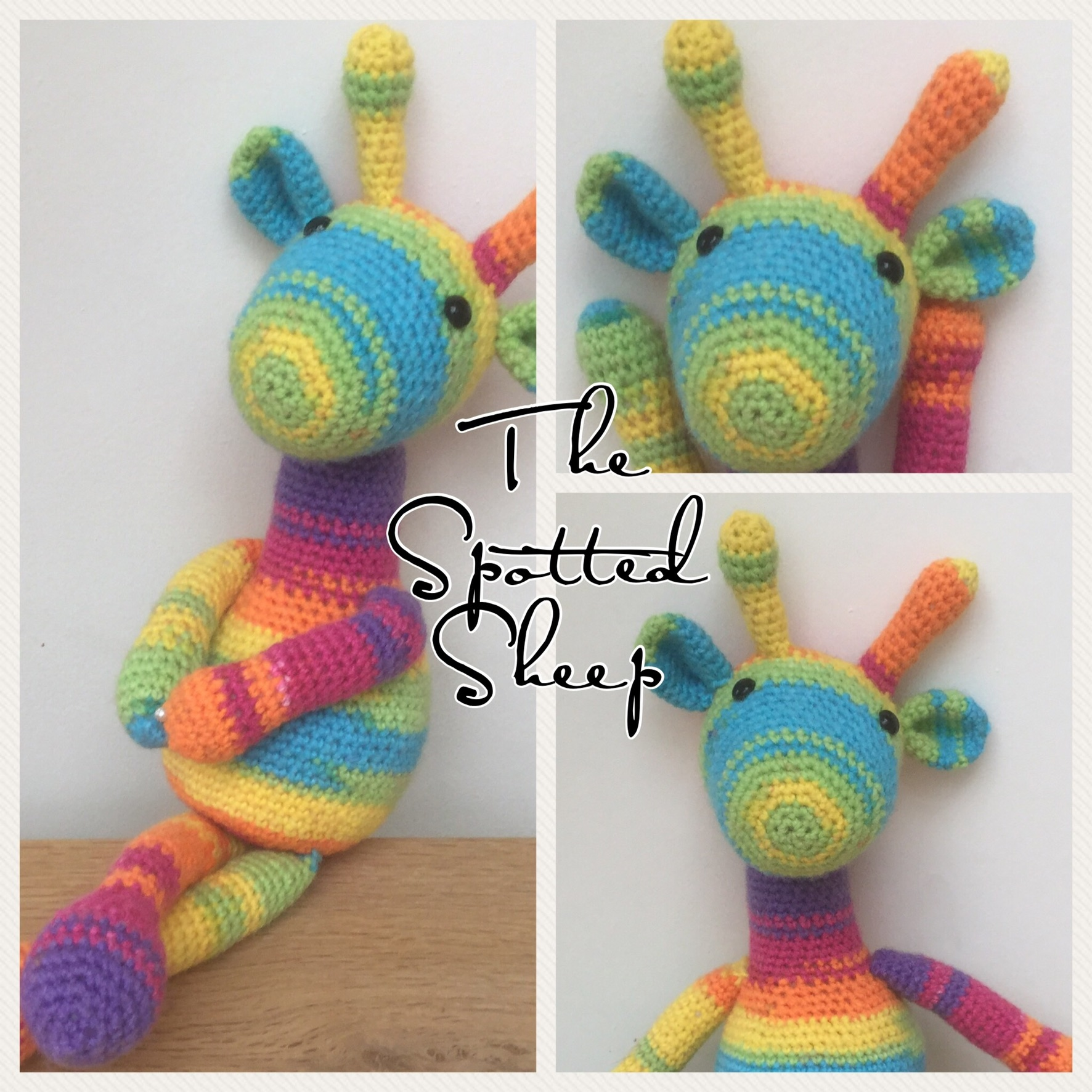 Sophia Amigurumi Crocheted Giraffe Pattern from The Spotted Sheep