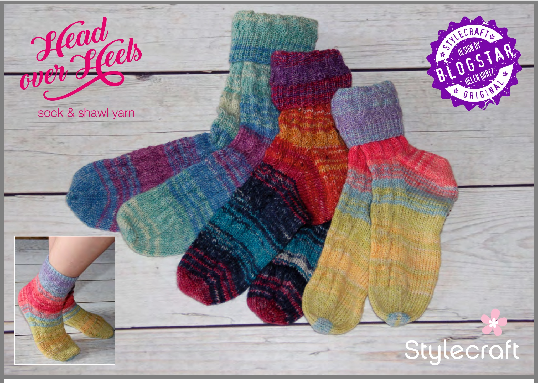 Stylecraft Head Over Heels Foothold Socks FREE Pattern - Spotted Sheep