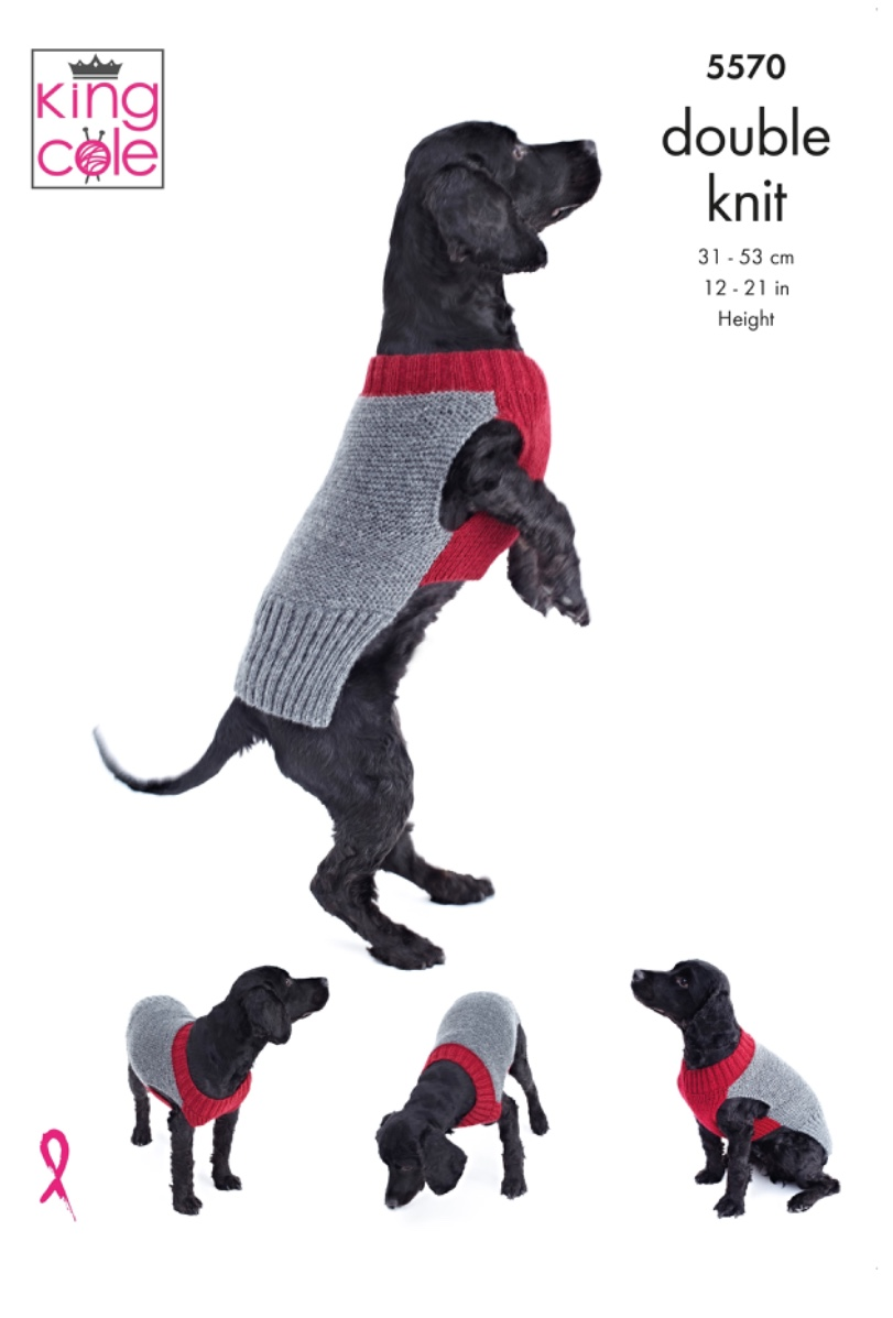 Easy Knit double knit Dog Coat King Cole 5570 - Spotted Sheep