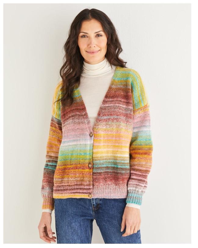 Sirdar Jewelspun Aran FREE Ladies cardigan knitting ...