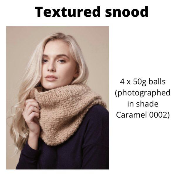 Rowan Cosy Merino - Textured snood in Caramel
