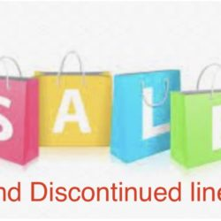Sale and discontinued lines